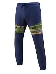 Masculino Boho Moda de Rua Cintura Média Micro-Elástica Chinos Calças Esportivas Calças,Delgado