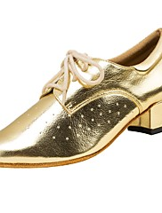 Damer Latin Syntetisk læder Sandaler Optræden Kryds & Tværs Stilethæle Guld 5 - 6,8 cm Kan tilpasses