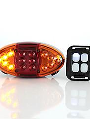 Luzes de Bicicleta Luzes da cauda LED Ciclismo Anti-Vento Antipoeira USB Lumens USB Laranja Exterior
