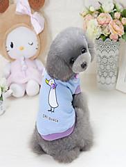 Cachorro Moletom Roupas para Cães Casual Desenhos Animados Roxo Azul