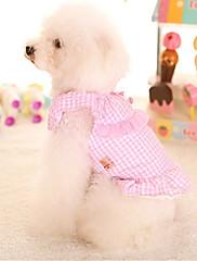 犬 ドレス 犬用ウェア カジュアル/普段着 プリンセス ブルー ピンク