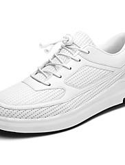 Masculino sapatos Malha Respirável Inverno Conforto Tênis Cadarço Para Casual Branco Preto Cinzento