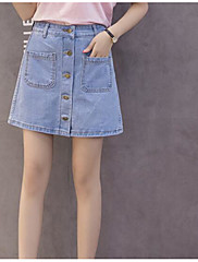 Ženske Slim Jednostavan Visoki struk Mikroelastično Chinos Kratke hlače Hlače Jednobojni