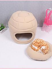 ネコ 犬 ベッド ペット用 マット/パッド ソリッド ベージュ ピンク