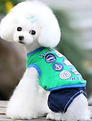 Cachorro Colete Roupas para Cães Casual Geometrico Amarelo Verde Rosa claro