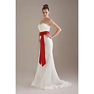 na altura do joelho de casamento / faixa de fita de noiva (fsd0242)