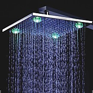 12 inch chroom messing douche kop met 4 LED-lampjes (0.698-l-4210)