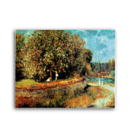 Hand-painted Oil Painting Chestnut Tree in Bloom by Pierre-Auguste Renoir with Stretched Frame