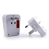 1 x World Travel Adapter met USB poort opladen / overspanningsbeveiliging