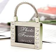 firkantet lås keyring / mini fotorammen
