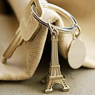 """Destination Wedding"" Eiffeltornet keyring i sammet presentpåse"