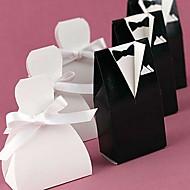Braut oder den Bräutigam zugunsten Box mit weißem Band (Set von 12)
