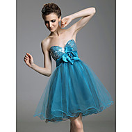 TS Couture® Cocktail Party / Prom / Sweet 16 / Holiday Dress - Short Plus Size / Petite A-line / Princess Strapless / Sweetheart Short / Mini Tulle