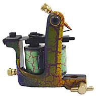 acier à faible teneur en carbone machine de tatouage avec 10 bobines de pellicule (wgd016-j)