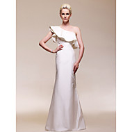 TS Couture Military Ball Dress - Elegant Celebrity Style Sheath / Column One Shoulder Floor-length Taffeta with Ruffles