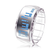 Bracelet Design Future Blue LED Wrist Watch - Transparent White