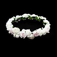 vackra papper blomma bröllop blomma flicka krans