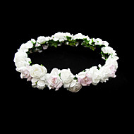 mooie papieren bloem bruiloft bloem meisje krans