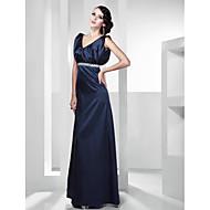Stretch Satin A-line V-neck Floor-length Evening Dress inspired by Julia Ormond