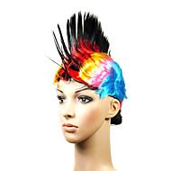 korkiton korkealaatuinen synteettinen värikäs cristate naamiaisissa peruukki
