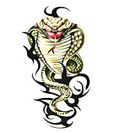 Serpiente 5 unidades a prueba de agua tatuaje temporal (6m * 6 cm)