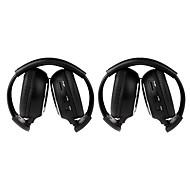 2 stk infrarød stereo bil trådløs hodetelefon ir-2011d