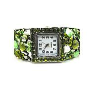 Marvelous Round Shape Quartz Movement With Cubic Zirconia Bracelet Watch
