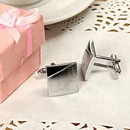 Noivo / Padrinho do Noivo Presentes Piece / Set Botões de Punho e Clipes de Gravata Clássico / Moderno Casamento / AniversárioLiga de