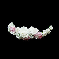 White And Pink Roses Flower Girl Garland/Headpiece