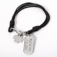 Personalized Bracelet With Cross Charm