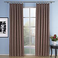 dois painéis neoclássico sólidas bege roxo vermelho sala de estar cortinas de painel de poliéster cortinas