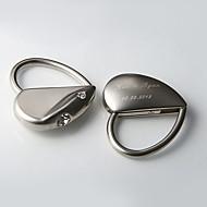 Porte-clés personnalisé avec strass coeur (jeu de 4)