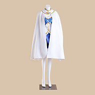 Inspirerad av Puella Magi Madoka Magica Sayaka Miki Animé Cosplay Kostymer/Dräkter cosplay Suits Lappverk Vit ÄrmlösKappa / Topp / Kjol /