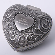 Personalized Vintage Tutania Heart Design Jewelry Box