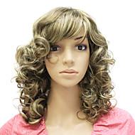 capless medium lang syntetisk krøllet hår paryk