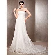 Lanting Bride® A-line / Princess Petite / Plus Sizes Wedding Dress - Elegant & Luxurious Spring 2013 / Vintage Inspired / Lacy LooksCourt