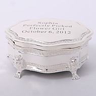 Personalized Silver-plated Tutania Delicate Jewelry Box