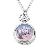 Damen Taschenuhr Quartz Band Vintage Silber Marke-