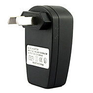 AU plug usb AC DC voeding lader adapter mp3 mp4 dv oplader (zwart)