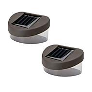 Перезаряжаемые лампы с настенным креплением, из нержавеющей стали, на солнечных батареях, набор из двух единиц
