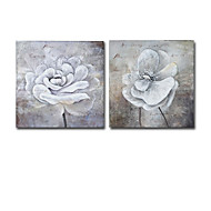 IARTS®Hand-painted Floral Oil Painting with Stretched Frame - Set of 2