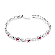 7mm x 7mm Crystal High Quality Alloy Bracelets (More Colors)