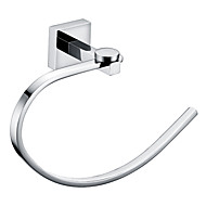 "YALI.M®,Towel Ring Chrome Wall Mounted 215 x 70 x 140mm (8.46 x 2.75 x 5.51"") Brass Contemporary"