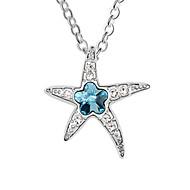 vacker legering med stjärnform kristall hängande damer halsband (fler färger)