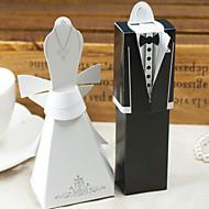 12 Stück / Set zugunsten Halter - Quader Kartenpapier Bevorzugungskästen Kleid& Smoking