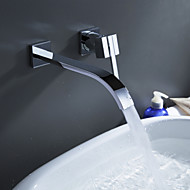 Sprinkle® door Lightinthebox - eigentijdse messing waterval badkamer wastafelkraan (wandmontage)