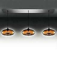 3 - lyse moderne glass anheng lysene i brun boble utforming