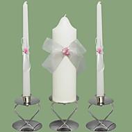 rosa rose bryllup enhet lys set-hvitt (lysestaker ikke inkludert)