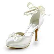 Women's Shoes Round Toe Stiletto Heel Satin Pumps Wedding Shoes More Colors available