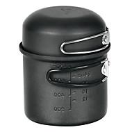 alocs® קמפינג כלי בישול 2-3 אנשים מבשלים להגדיר (סיר 0.9l, קערת 340ml) לטיולים רגליים / פיקניק / תרמילאים